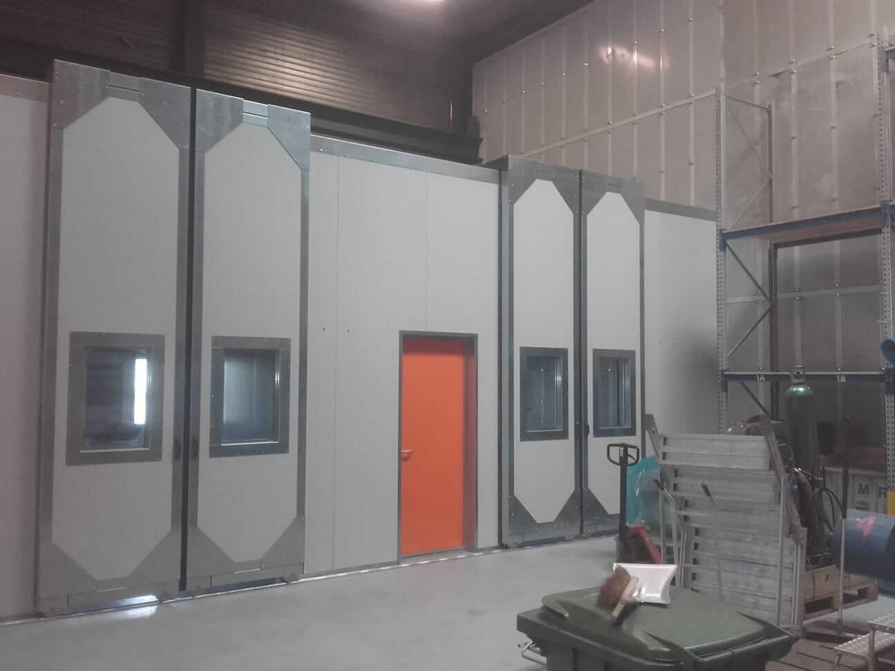 Geluidsisolerende cabines voor werkstations